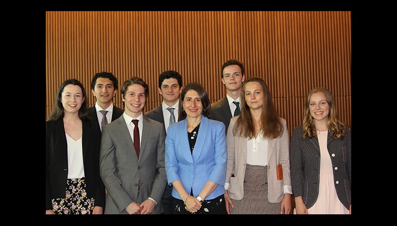 Gladys Berejiklian with Bradfield finalists