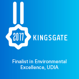 Kingsgate, Finalist in Environmental Excellence, UDIA