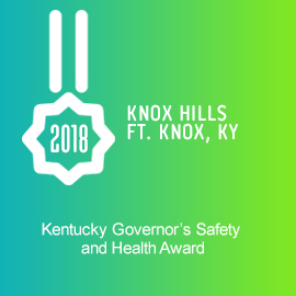 2018 Knox Hills, Ft. Knox, KY Kentucky Governor's Safety and Health Award