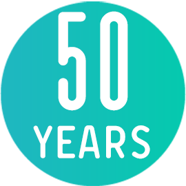50 years icon